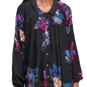 Free People abstract blouse